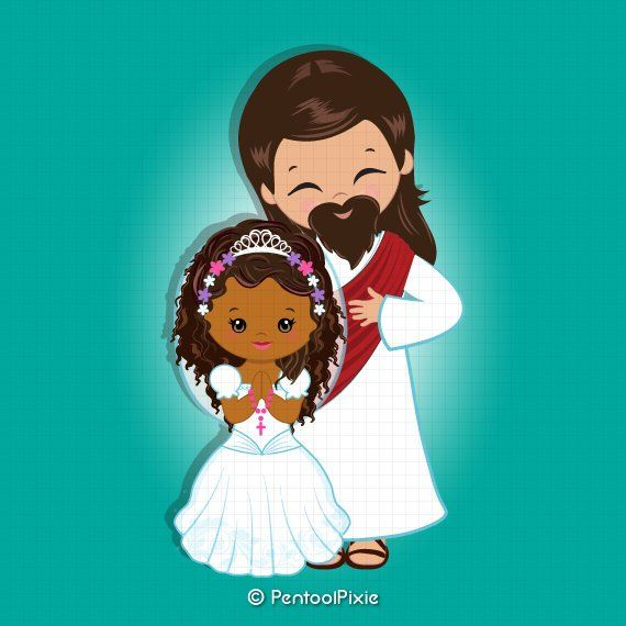 Jesus clipart, Jesus Christ, First communion clipart.