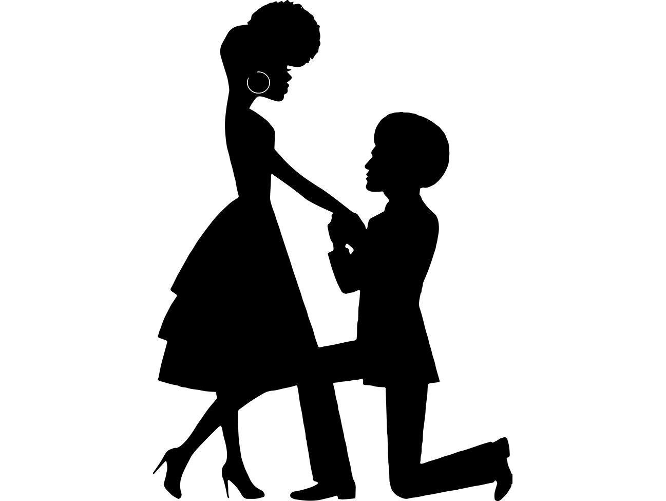 Black Couple Proposal Love Queen King Afro Beautiful African American  Female Male SVG .EPS .PNG Vector Clipart Digital Circuit Cut Cutting.