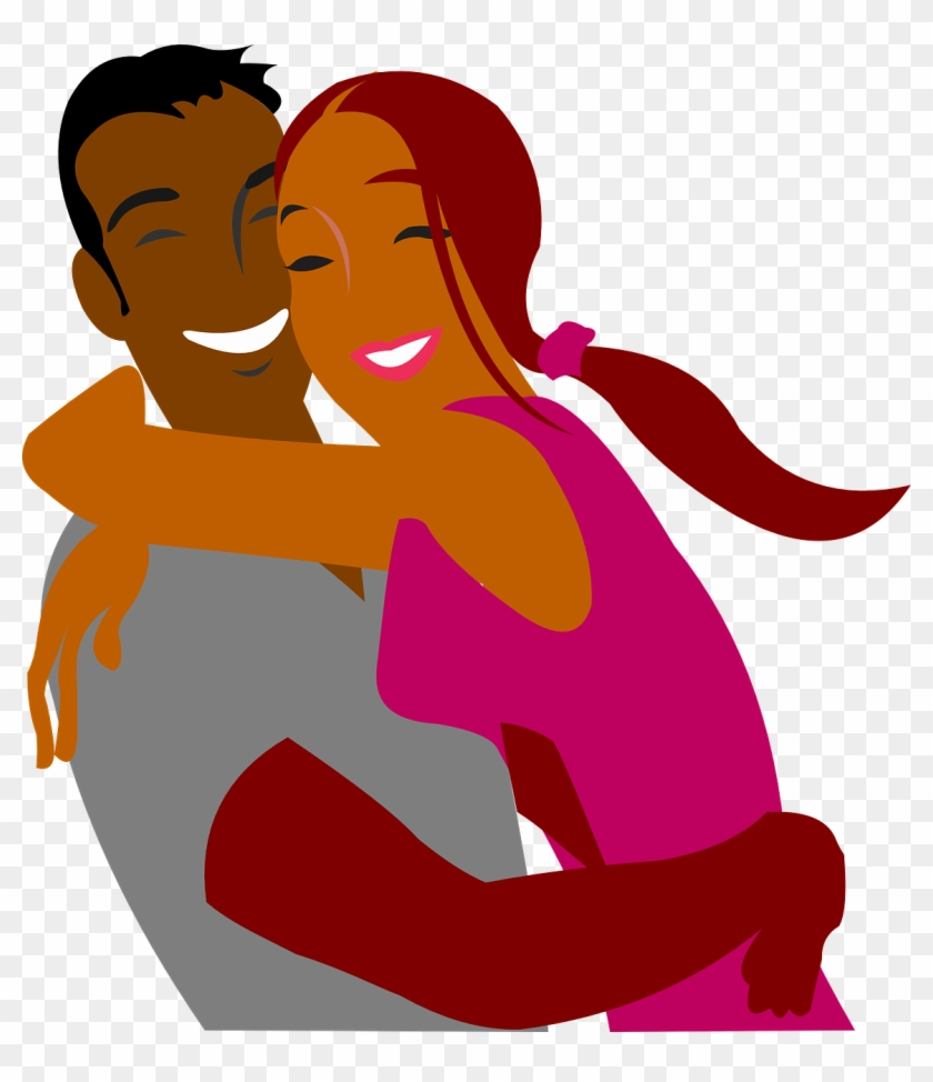Png Black And White Library Black Cartoon Couples Image.