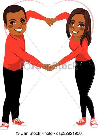 Cute Couple Love Arms Shape.