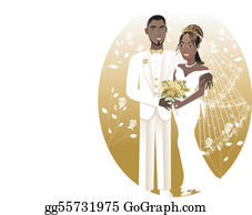 African American Couples Clip Art.