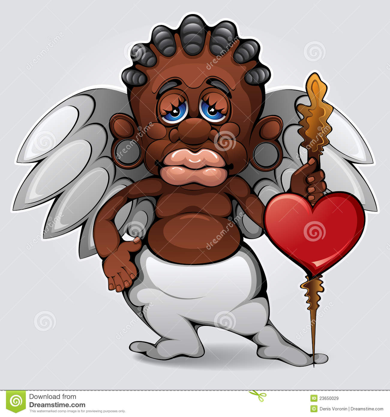 African cupid stock vector. Illustration of arrows, characters.