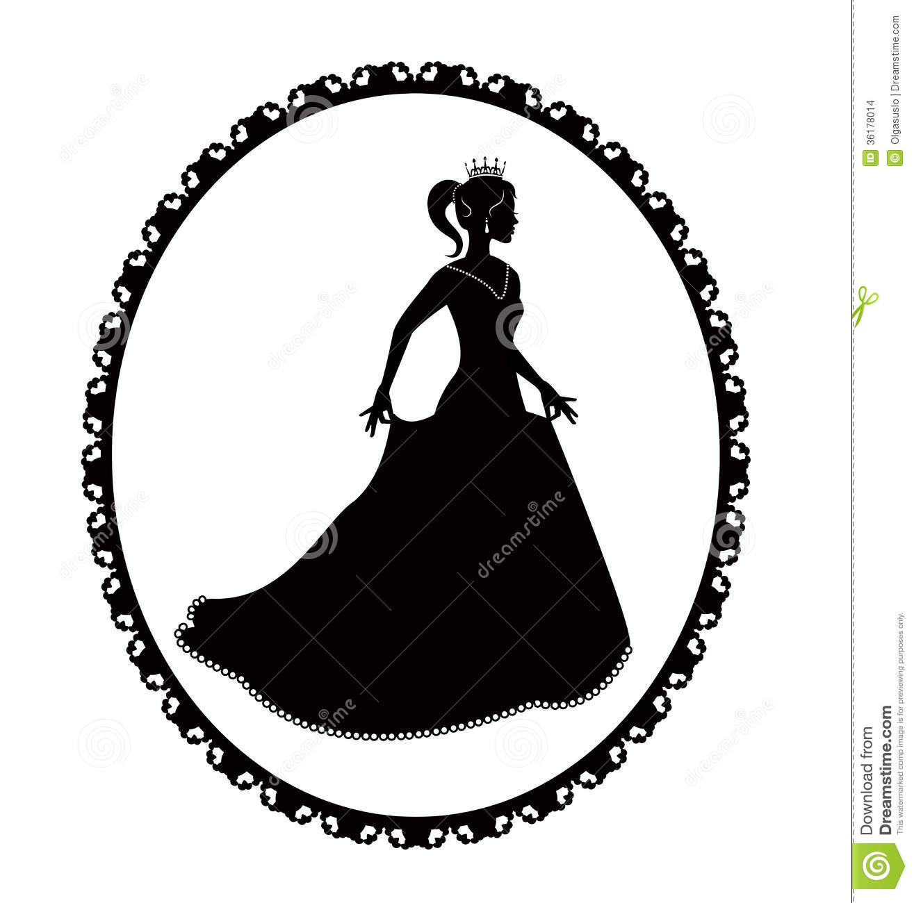 Black Princess Silhouette.