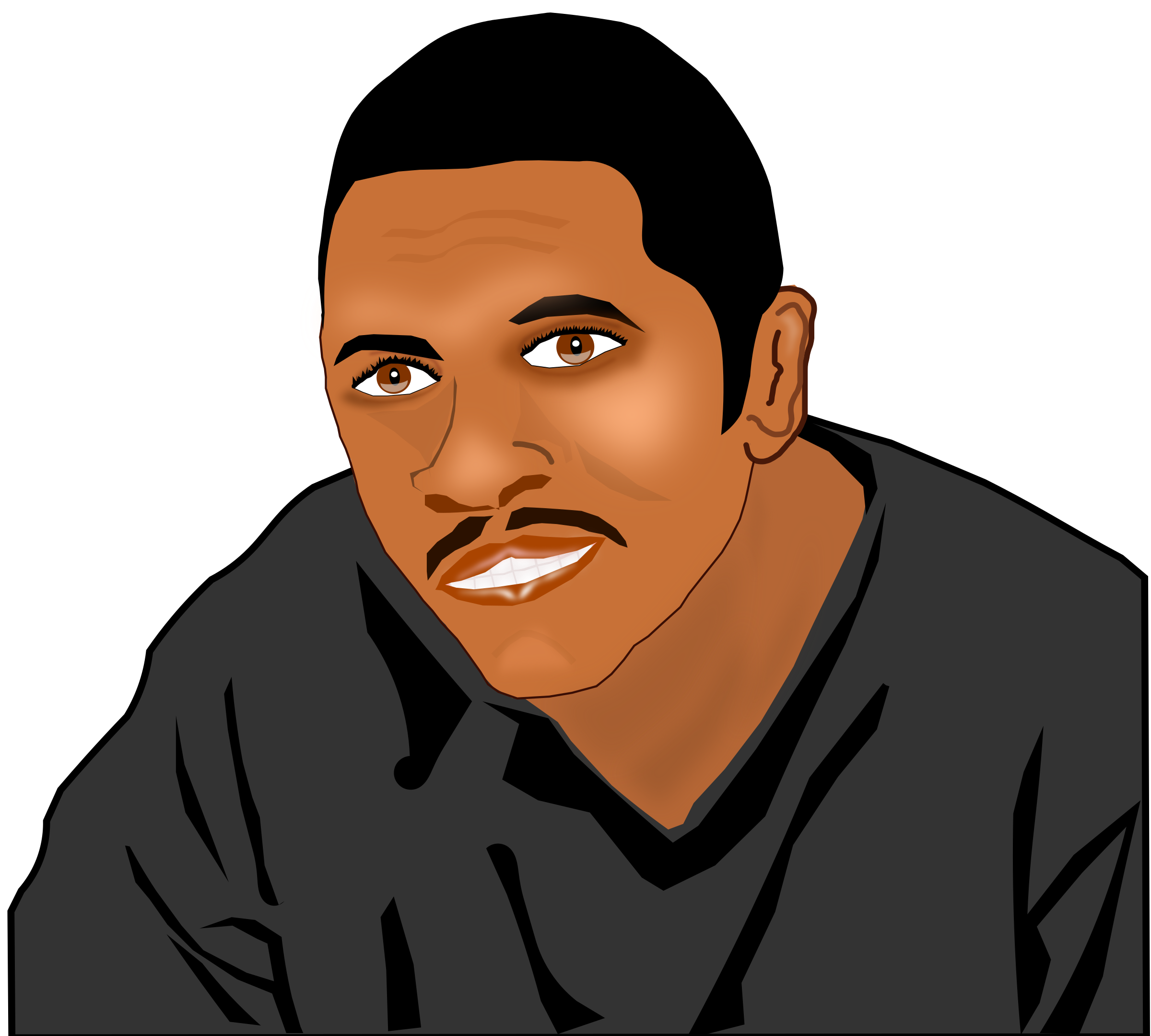 African American Man Clipart.
