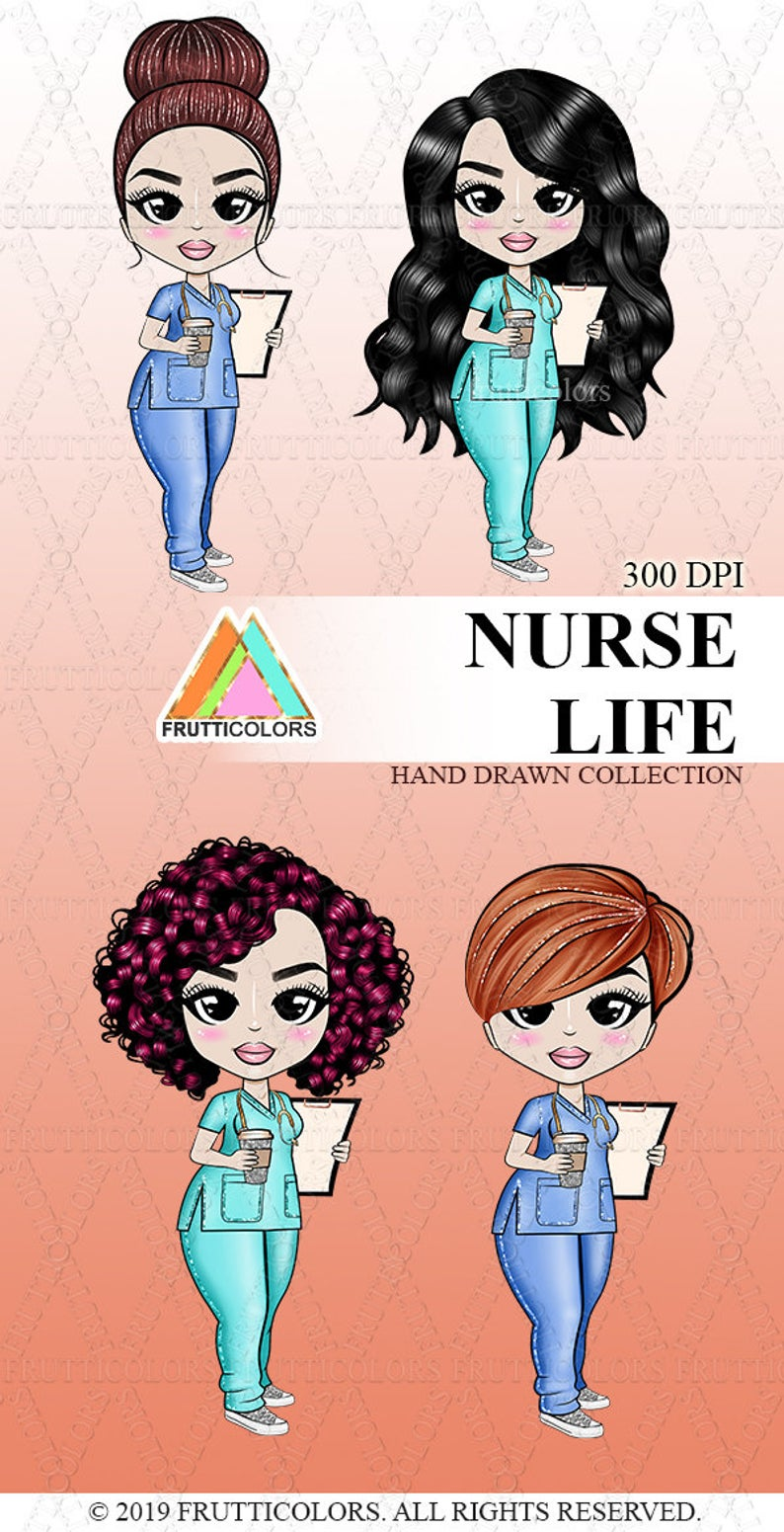 Nurse Clipart African American Dolls Nurse Life Planner.