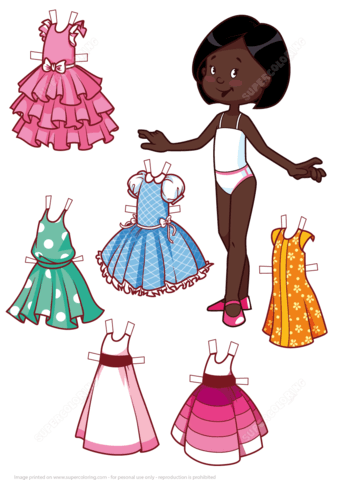 Six Beautiful Dresses for a Cute African American Girl Paper.