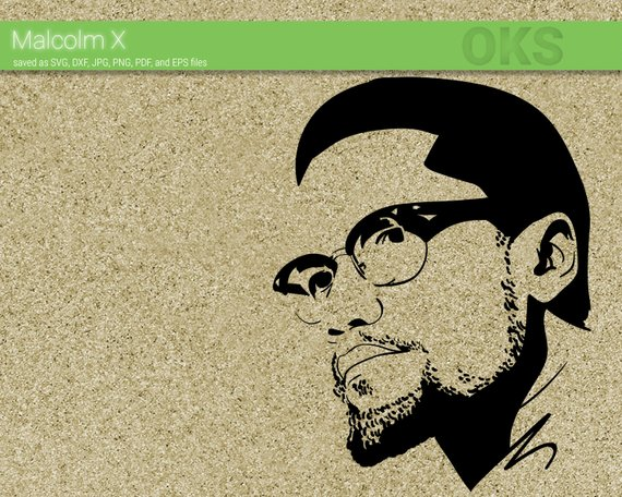 malcolm x svg download, african american clipart, black.