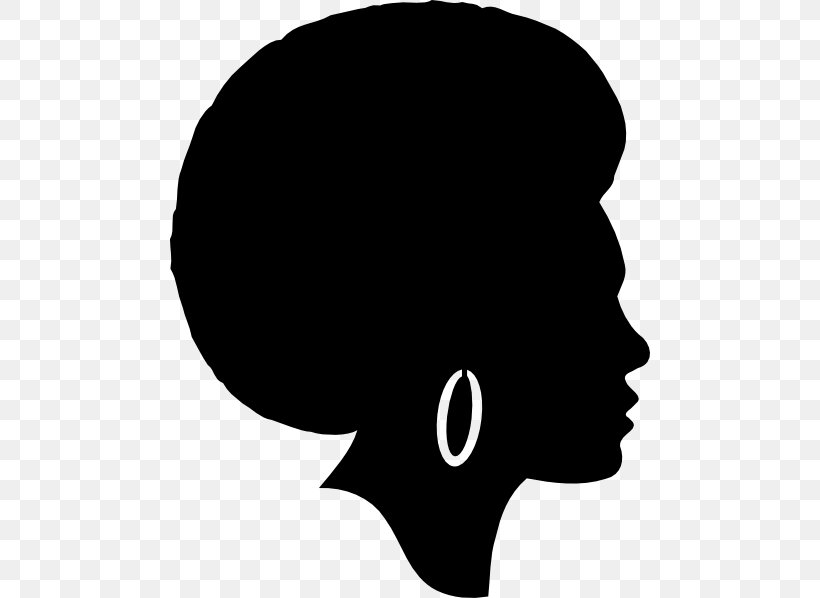Silhouette Female African American Clip Art, PNG, 480x598px.