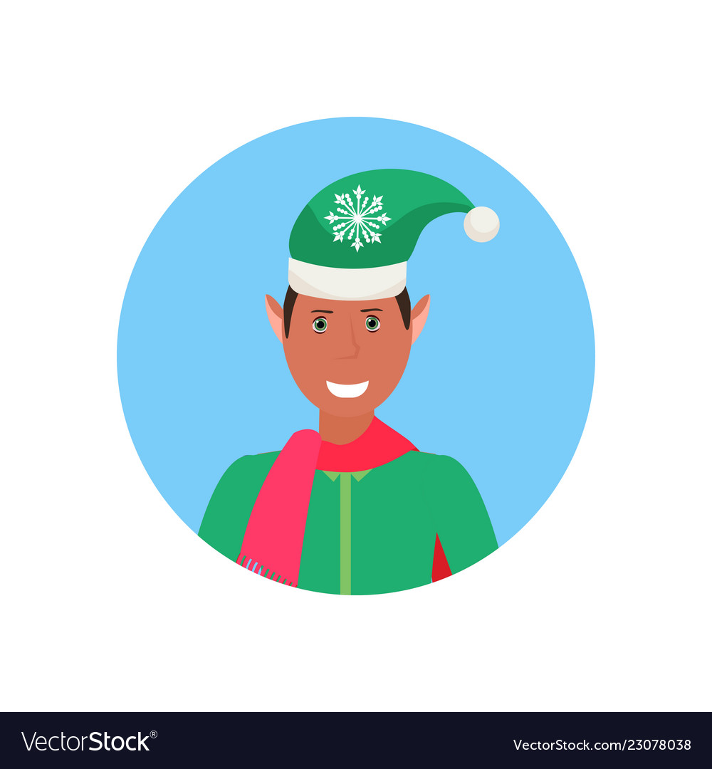 African american man christmas elf santa helper.