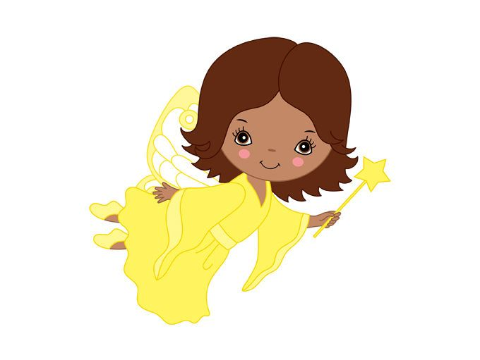 African American Fairy Clipart.
