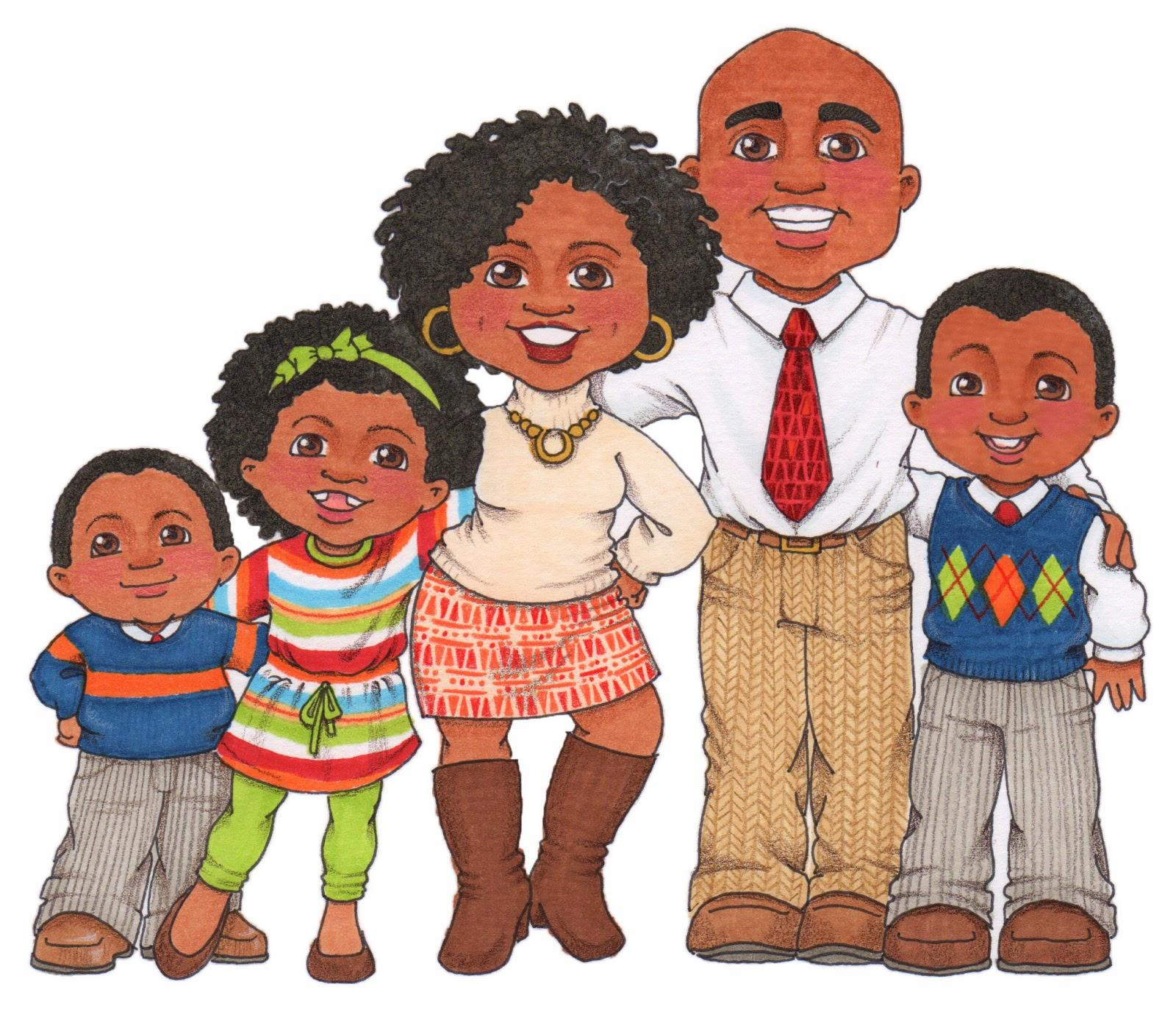 38685 Family free clipart.