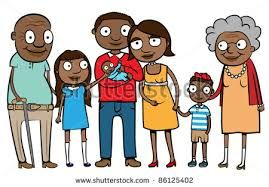 Image result for visit family clipart, african american.