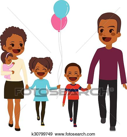 African American Family Clipart 1.