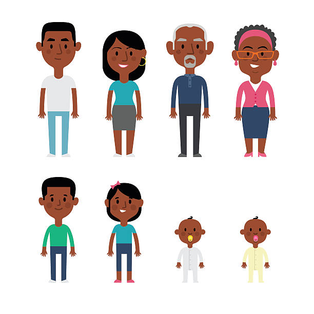 Best African American Family Illustrations, Royalty.