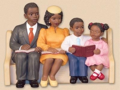 African American Family And Friends Day Clipart.