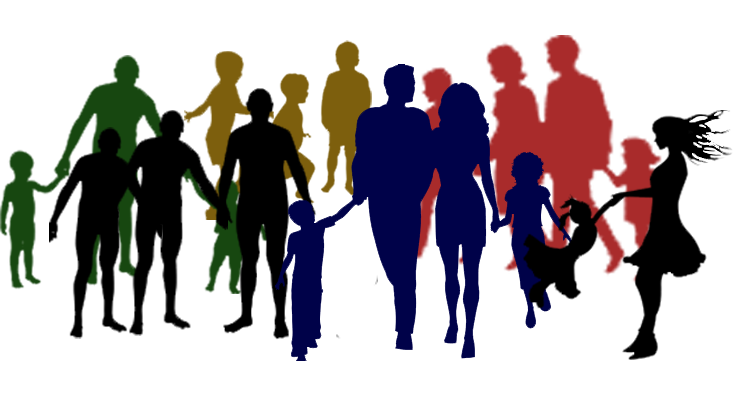 Black Family And Friends Clipart.