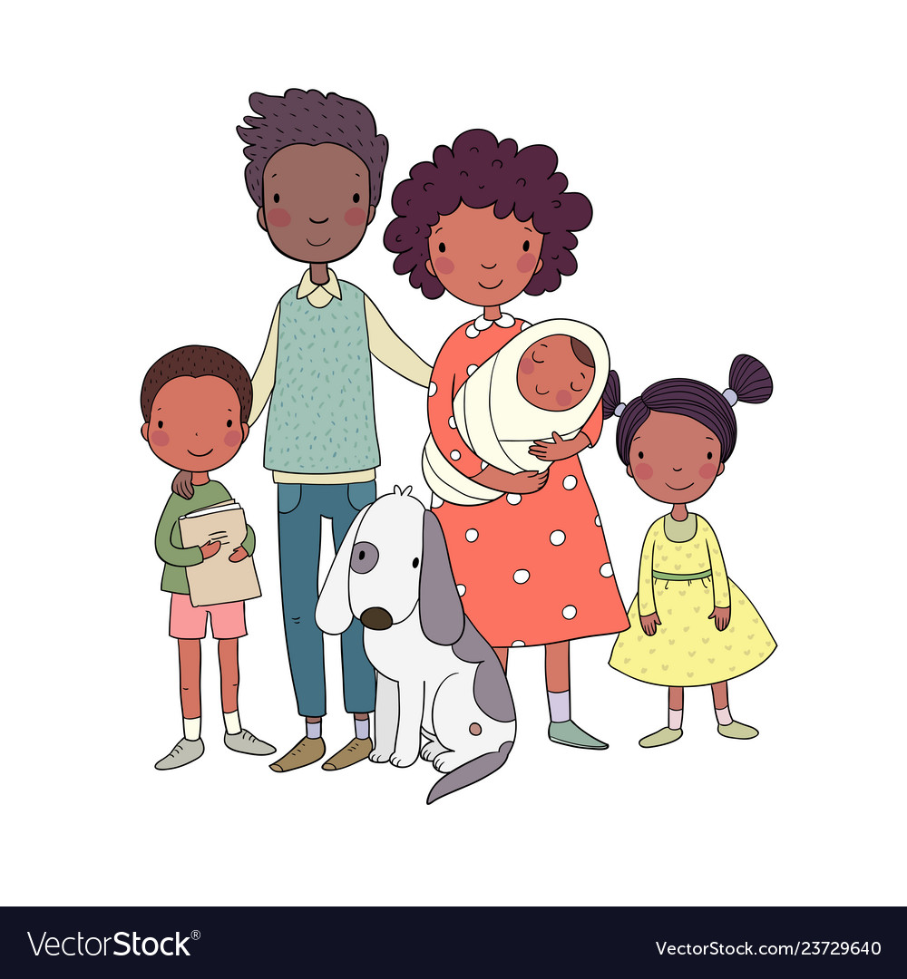 African american happy family parents and.