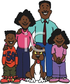 Family With Pet Clipart.
