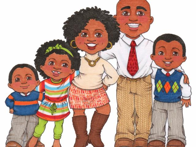 African American Family Clipart 6.