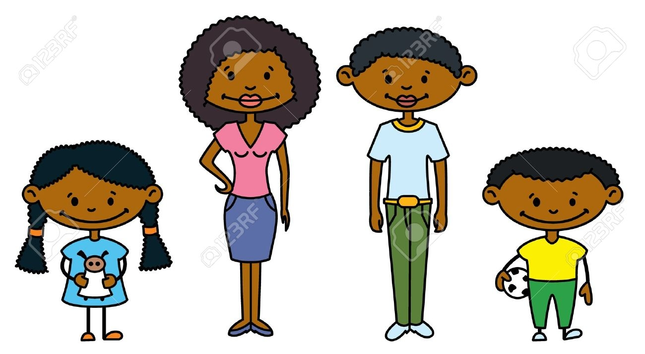 African American Family Clipart.