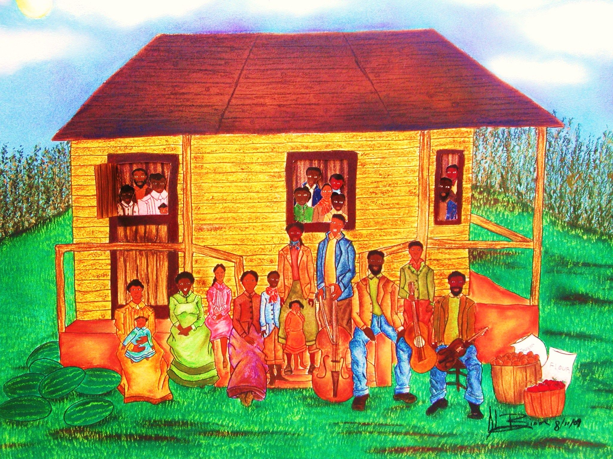 Idea Reunion African American Family Art.