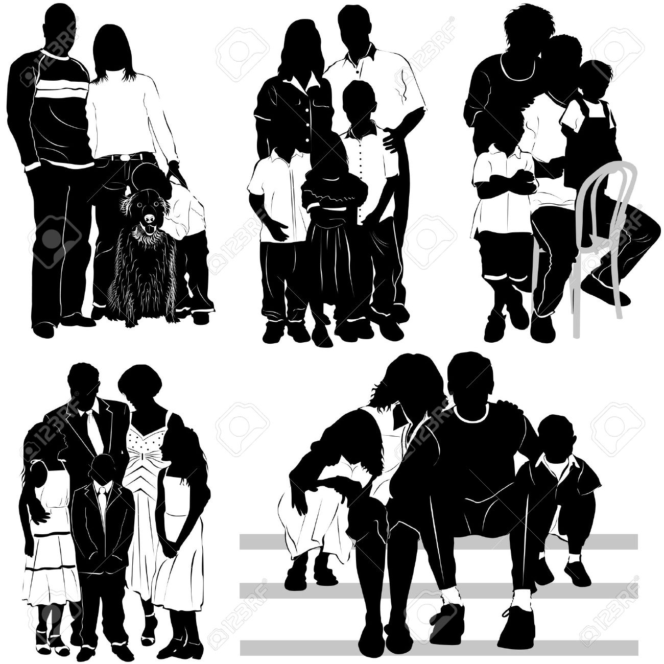 African Family Silhouette.