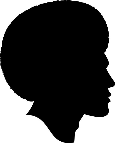 African American People Silhouette.