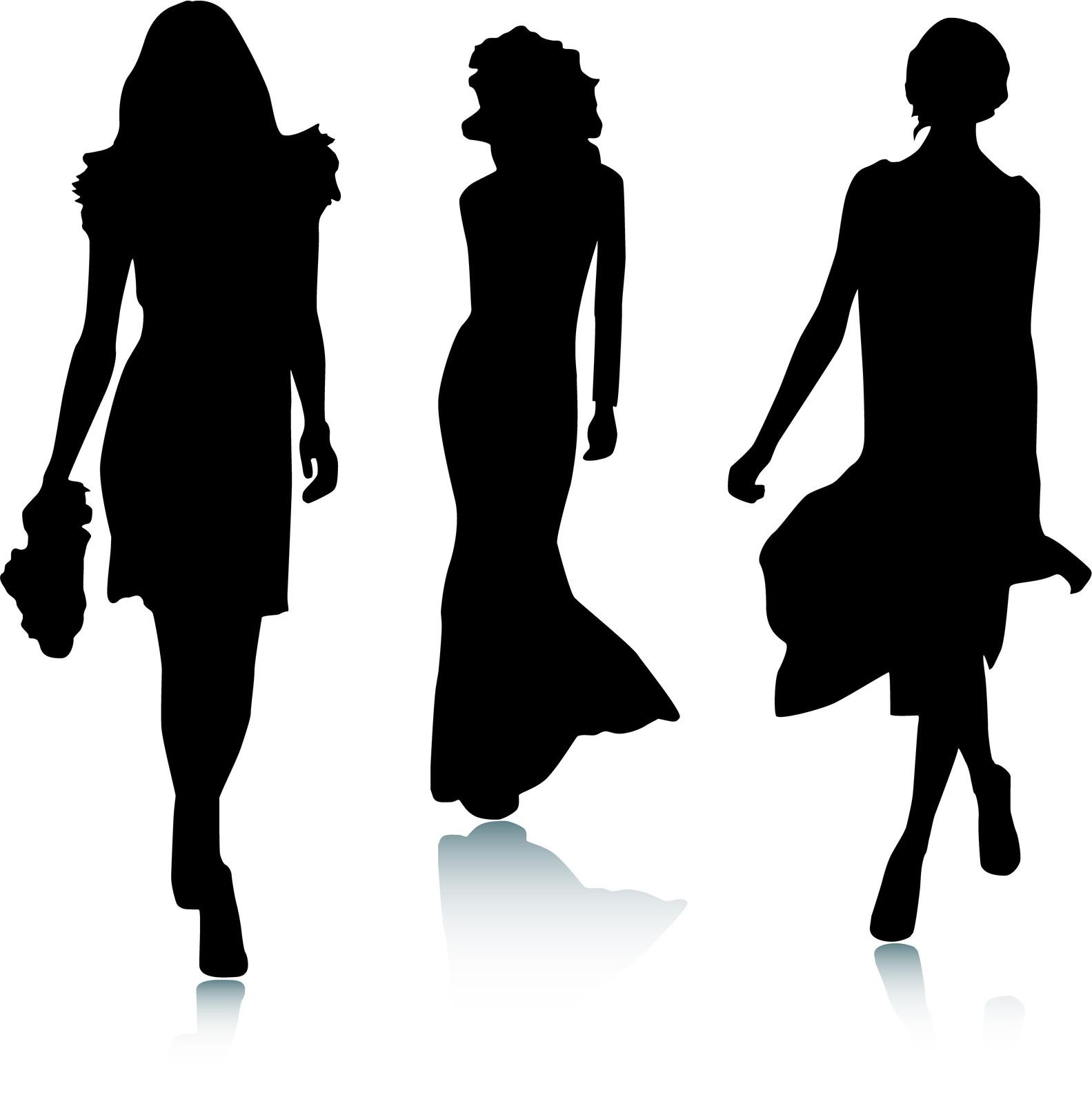 Fashion Show Models Clipart.