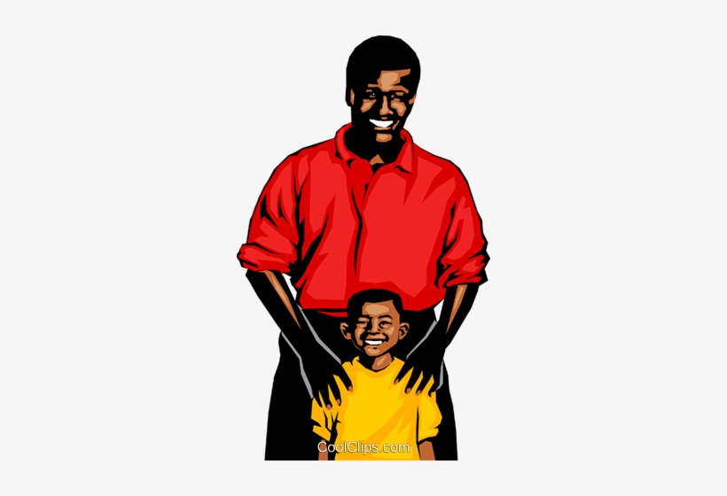 Father & Son Royalty Free Vector Clip Art Illustration.