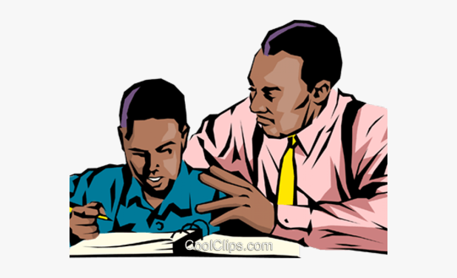 Cartoon African American Father And Son #249023.