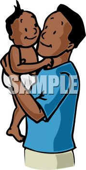 5704 Father free clipart.
