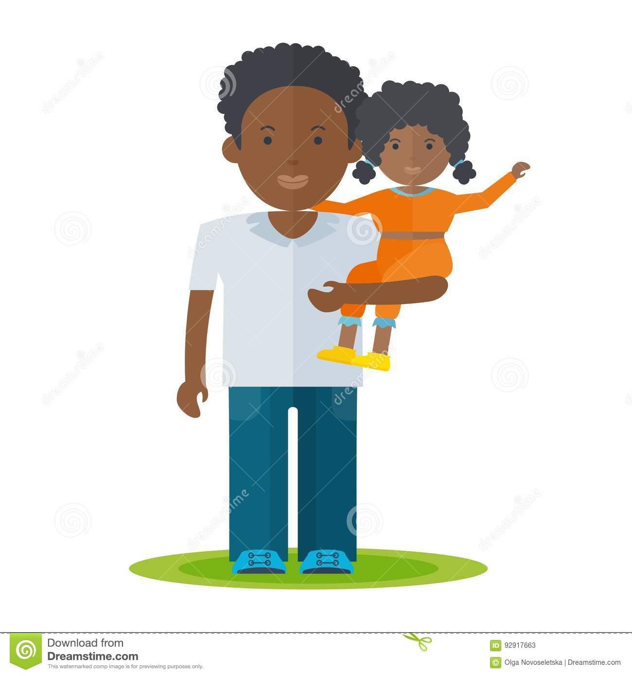 Black Father Clipart.