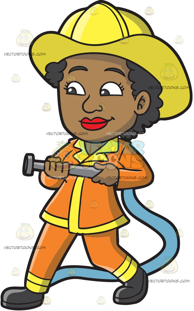 2735 Firefighter free clipart.