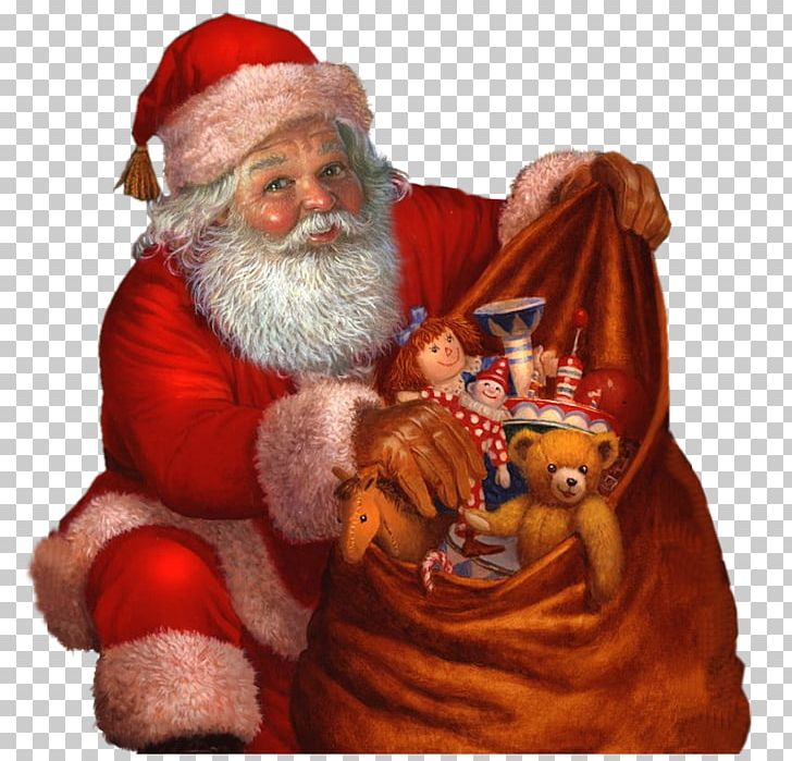 Santa Claus Christmas Holiday African American Gift PNG.