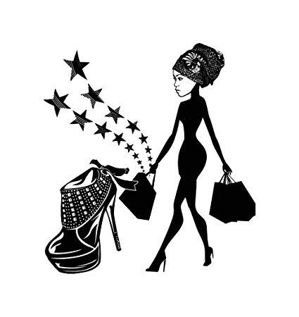 Amazon.com: EvelynDavid Black Woman Silhouettes Classy Lady.