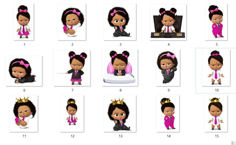 African American Girl Boss Baby, Boss Baby light Skin full.