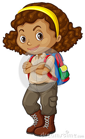 African American Girl Clip Art Royalty Free Stock Images.
