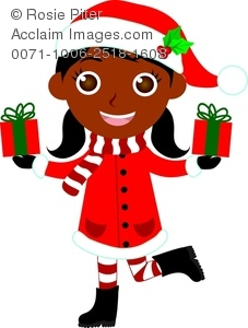 African American Girl Clipart With Pigtails.