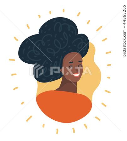 Black woman face. African American girl. Avatar..