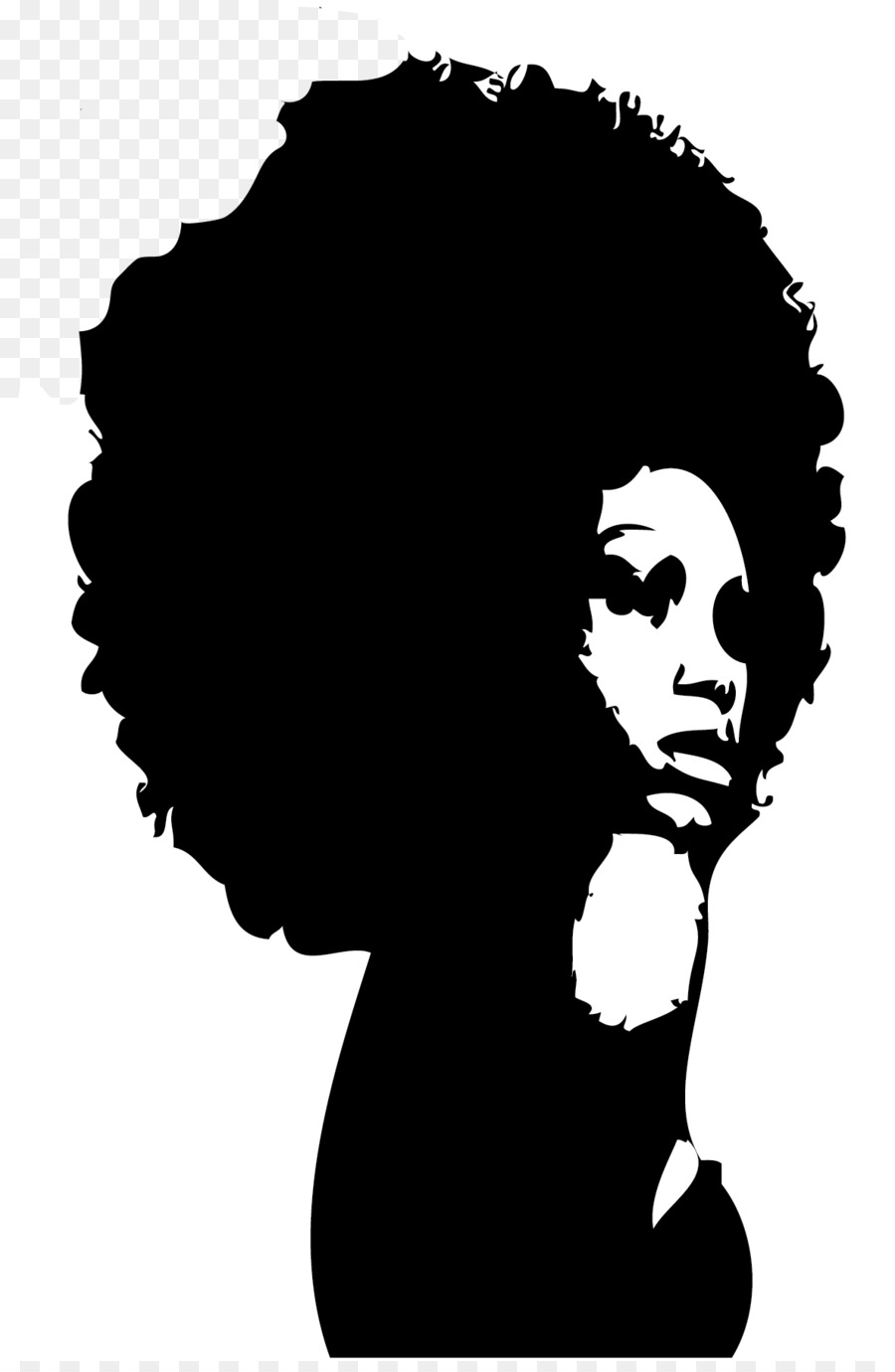 Natural Hair Png Black Woman Face Silhouette.