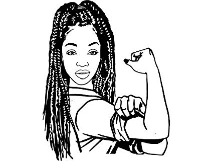 Amazon.com: EvelynDavid Black Woman Braids Hairstyle Stylish.