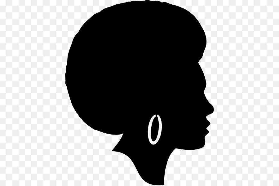 Silhouette Female African American Clip art.