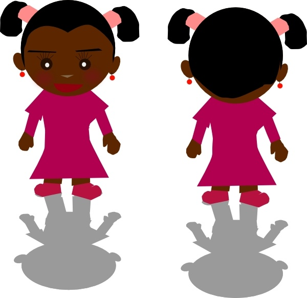 Ricardo Black Girl Png clip art Free vector in Open office.