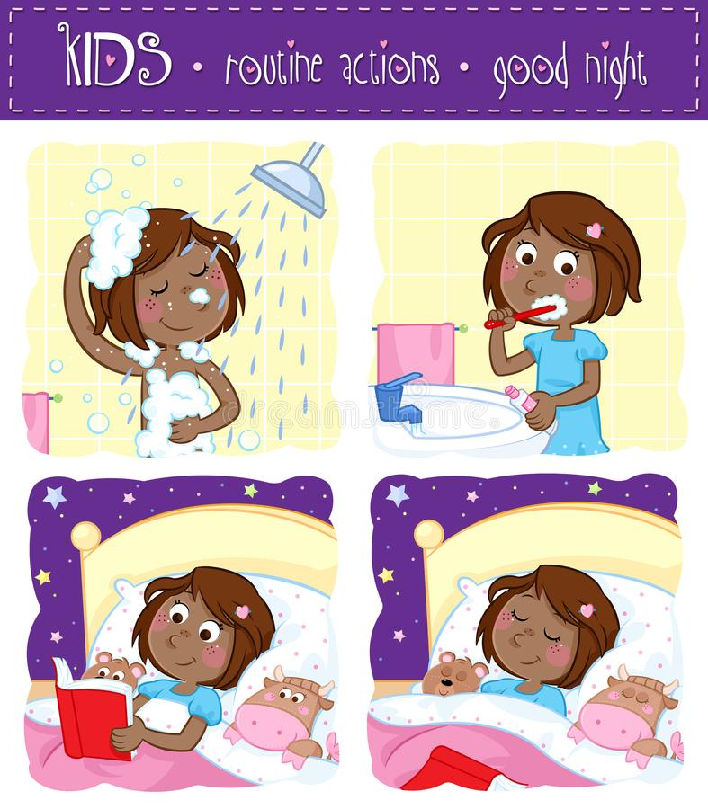 Night Routine Clipart.