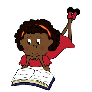African American Girl Student Clipart.