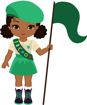 15 GIRL SCOUT African American variety stickers for planners.