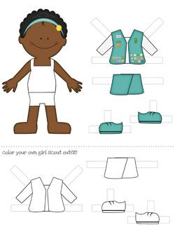 african american printable paper dolls.