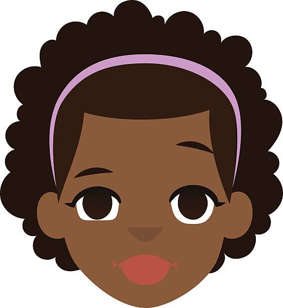 African Girl Clipart.