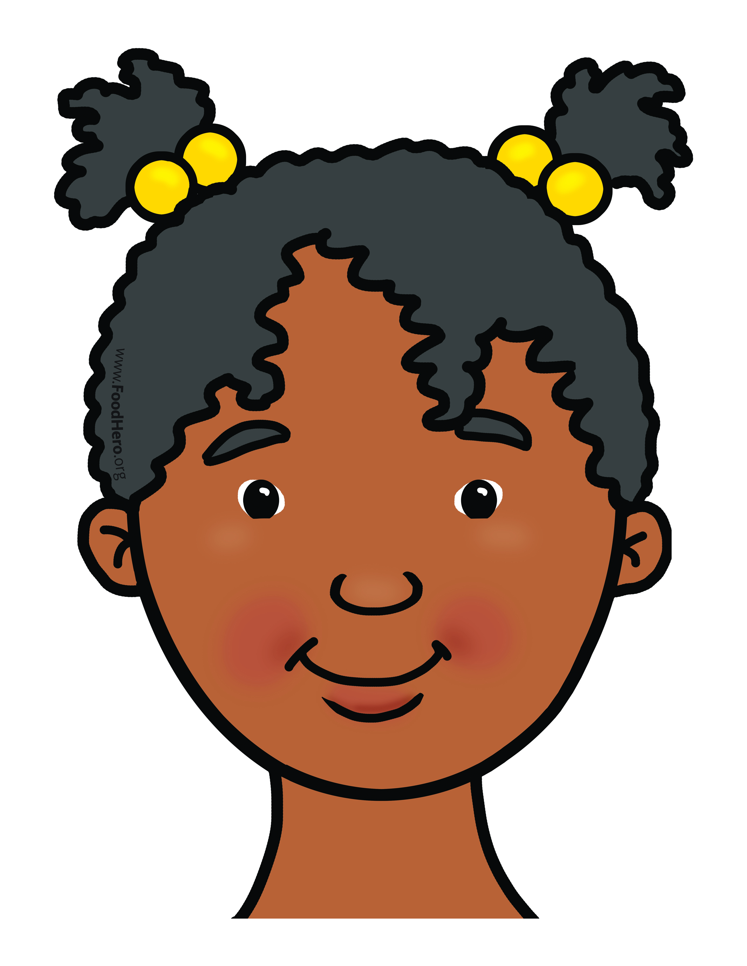 African american girl face clipart clipart images gallery.