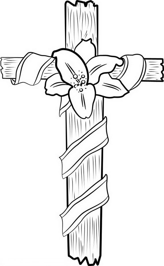 Good Friday Coloring Pages and Pintables for Kids.